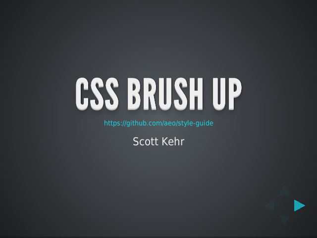 css-brush-up