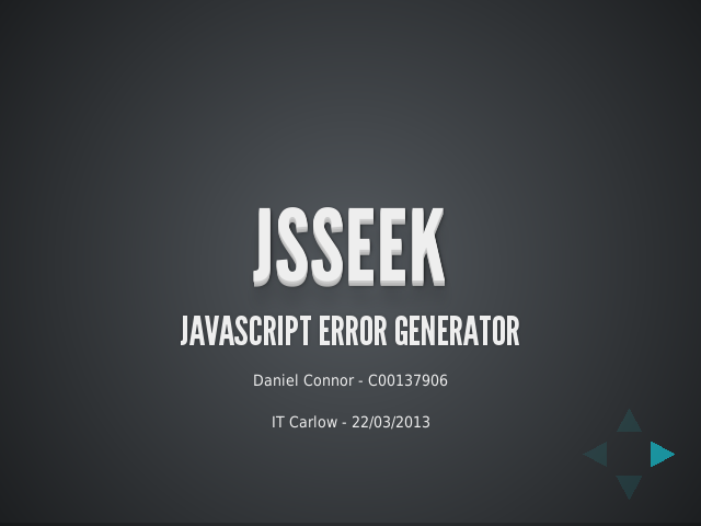 JSSEEK – Javascript Error Generator – Why?