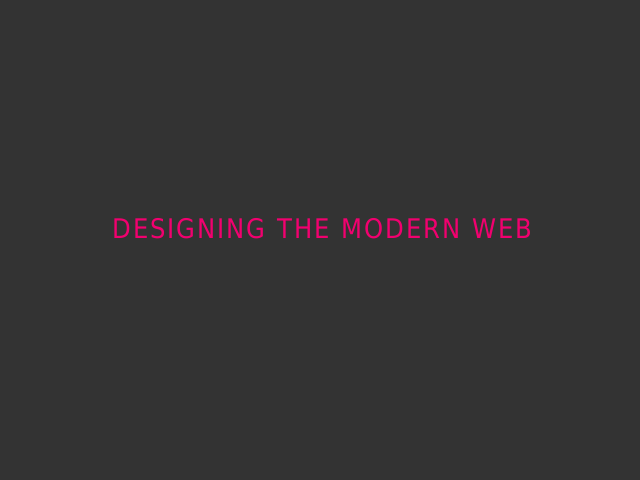 Designing The Modern Web – The Dao of Web Design – Ritual