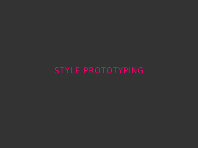 Style Prototyping – First, A Quiz – These are Graphic Design Tools