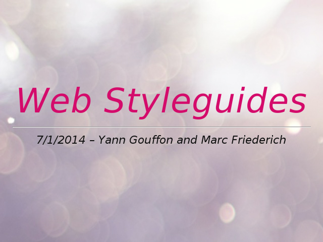 Web Styleguides – You might have a communication problem – What is a styleguide (CICD)