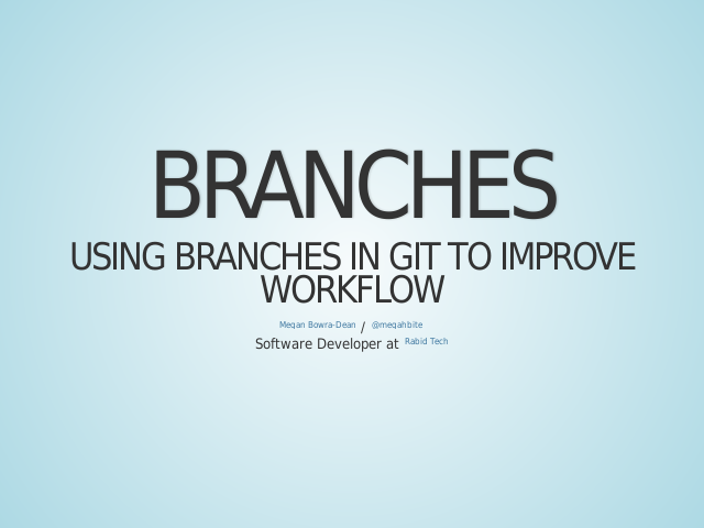 Branches – Using branches in Git to improve workflow