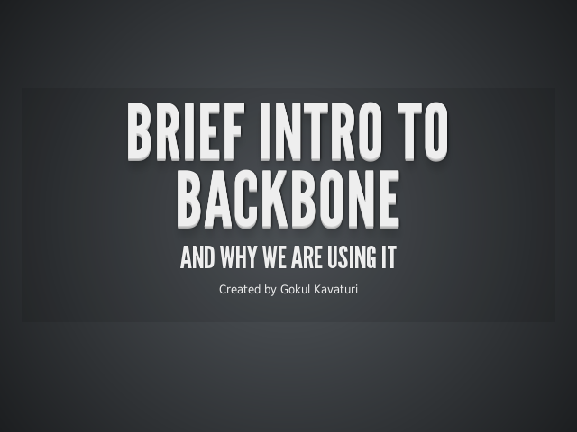 Brief Intro to Backbone – and why we are using it –  Web Applications