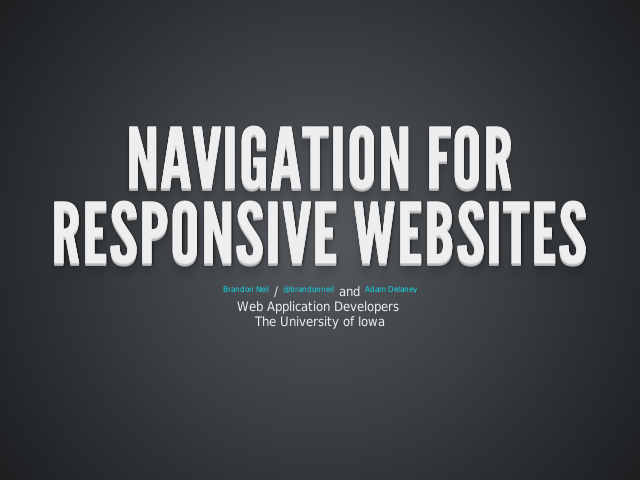 Navigation for responsive websites