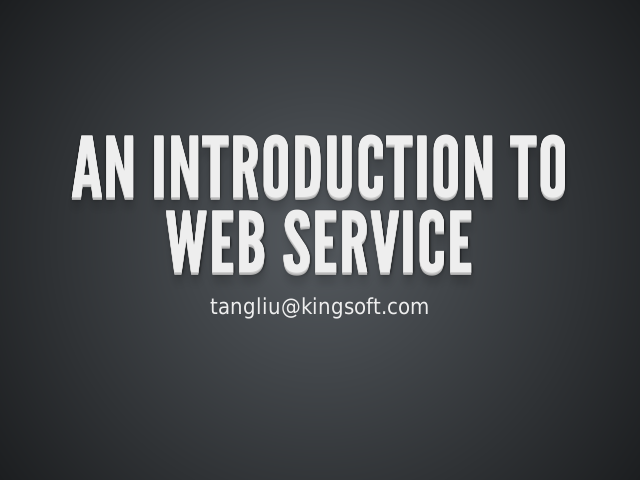 An Introduction To Web Service