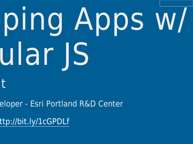 Mapping Apps w/ Angular JS – Patrick Arlt