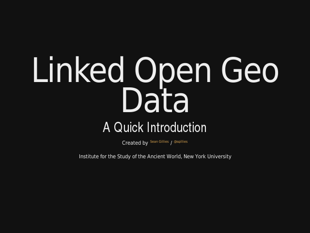 Linked Open Geo Data – A Quick Introduction