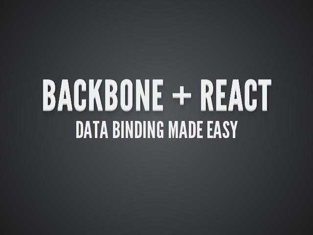backbone data binding