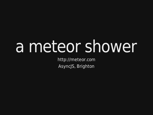 a meteor shower