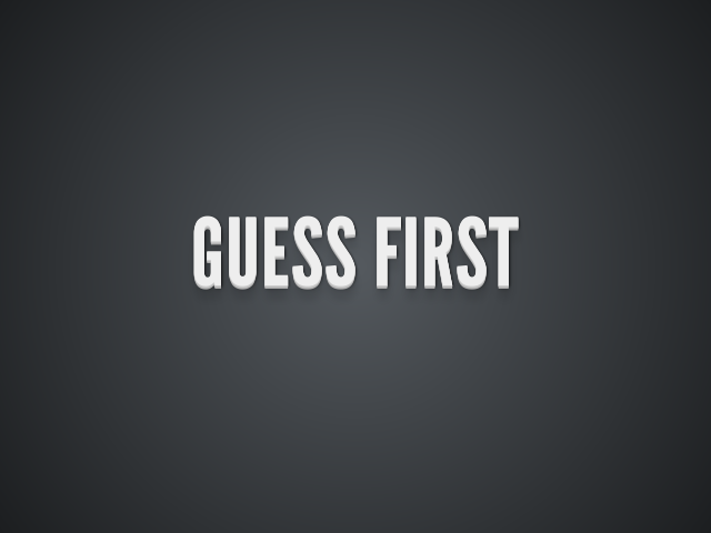 Guess First – CHARACTERS – Writing