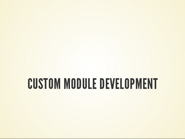 Custom Module Development