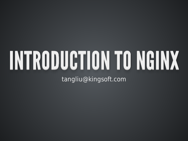 Introduction To Nginx
