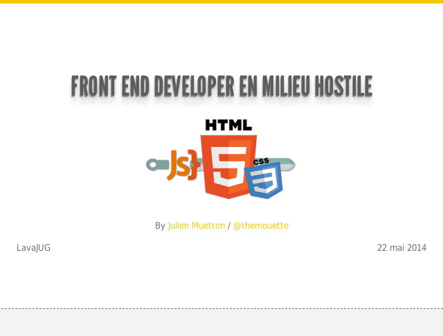 Front End Developer en milieu hostile