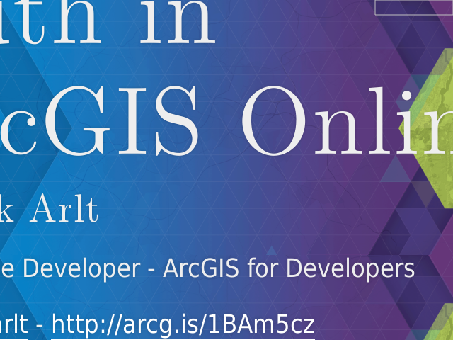 Auth in ArcGIS Online – Patrick Arlt