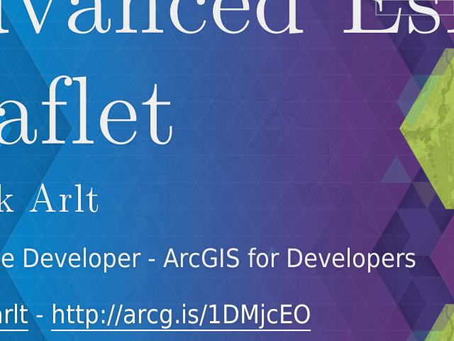 Advanced Esri Leaflet – Patrick Arlt