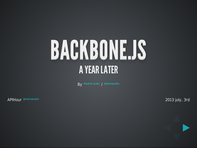 Backbone.JS – A year later