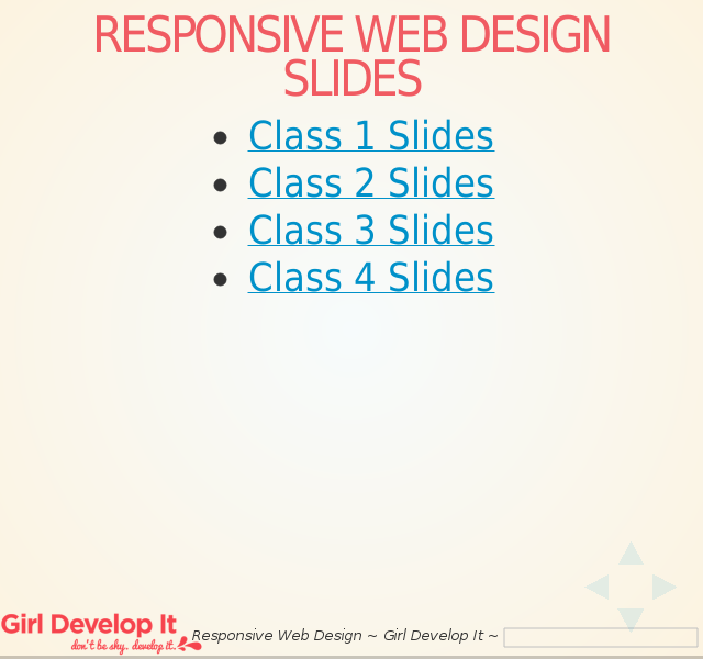 Responsive Web Design Slides