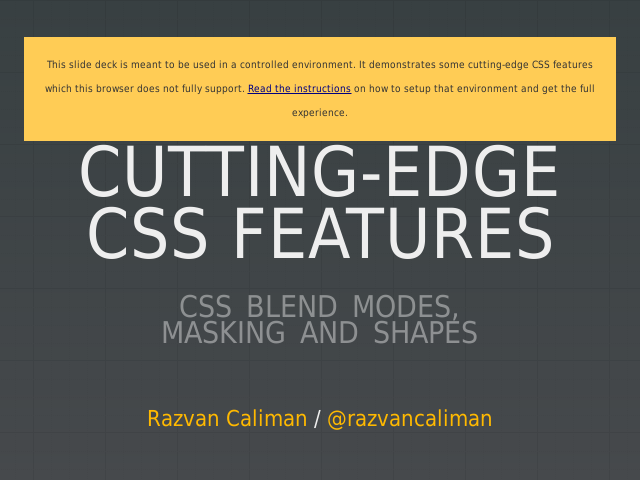 Cutting-edge CSS Features – CSS Blend Modes,  Masking and Shapes