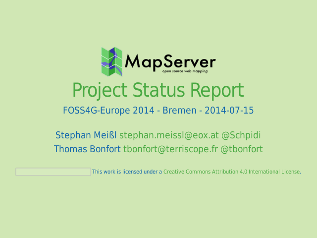 Project Status Report – What is MapServer? – MapServer History