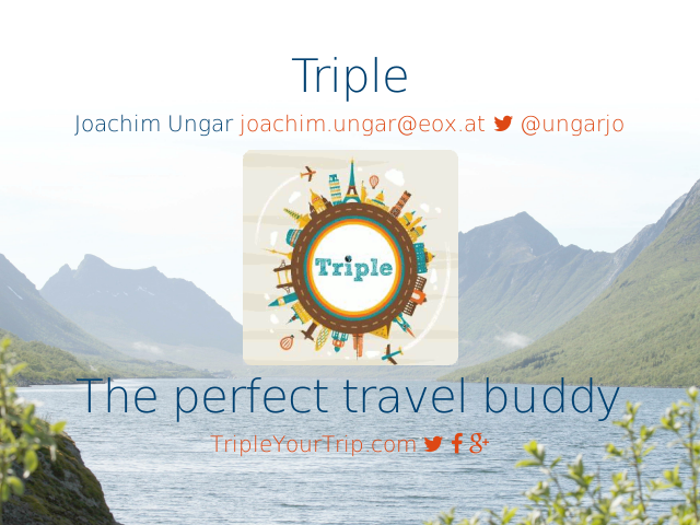 Triple – The perfect travel buddy –  Planning &  Information